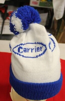 Vintage Carrier heating, air-conditioning Stocking Cap Advertising Winter Beanie