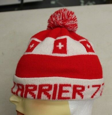 Vintage Carrier 77 heating, air-conditioning  Stocking Cap Advertising Hat