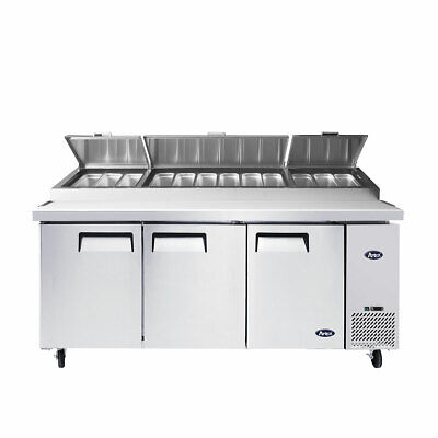 NEW 3 Door Refrigerated Pizza Prep Table Atosa MPF8203 #1150 Commercial NSF