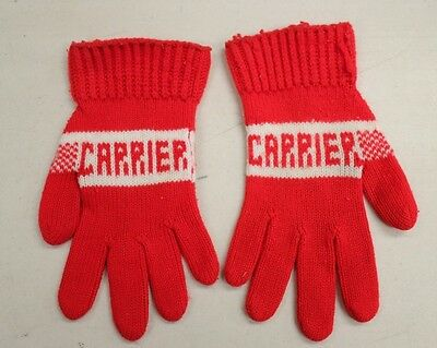 Vintage Carrier heating, air-conditioning  Knit Gloves Advertising Winter