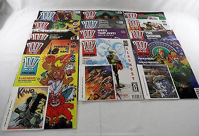 Collection of 2000AD Comics FT Judge Dredd x 13 1990 #697-710 (excl. #702) VG