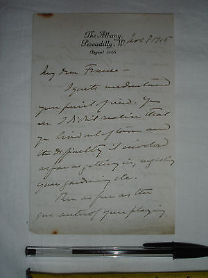 Used letter dated 1915? to Mr. France, signed by Edward Knoblock -Theatre(#Z3)