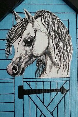 Personalised horse pony plaque,hand painted any name, colours £10 free post