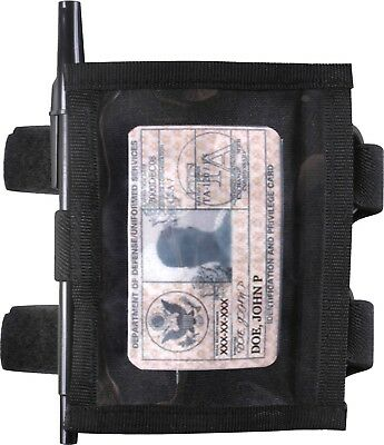 Black Military ID Armband Identification Holder