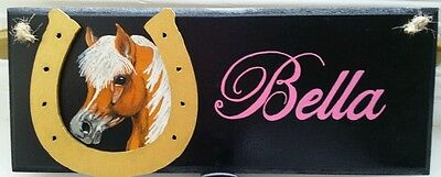 Personalised plaque,handpainted to look like your horse/pony £10 free post