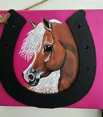 Personalised pony plaque,hand painted with any name colours £10 free post