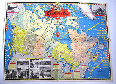 1945 Stanley F. Turner Canadian Pacific Railway Pictorial Map of Canada