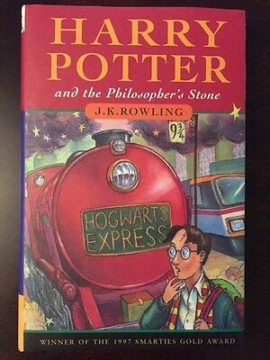 Harry Potter and the Philosophers Stone Hardcover Book with Wand Typo