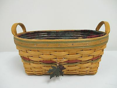 Longaberger 2001 Autumn Reflections Daily Blessings Basket w/ Protector & Liner