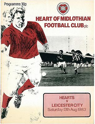 HEART OF MIDLOTHIAN Hearts v Leicester City Friendly 1983