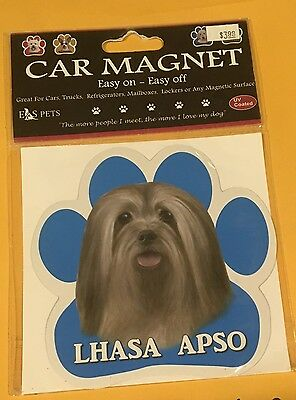 E&S Pets LHASA APSO Dog Car Magnet, New, Free Shipping UV COATED CAR TRUCK EASY!