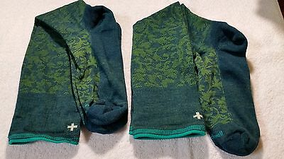 Two Pair Of Compression socks by Sockwell, S-M, ships free, Green Damask