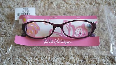 Lily Pulitzer Girls Avaline Plum & multicolor frames, NWT retail $155