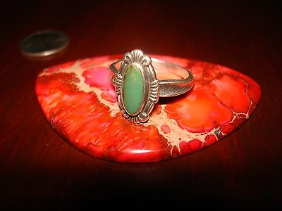 Vintage Native American Sterling Silver Ring.925 Sz-7