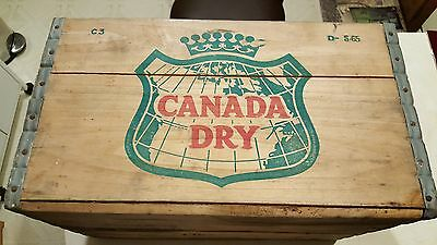 Vintage Canada Dry Wooden Crate  Dated  5-65