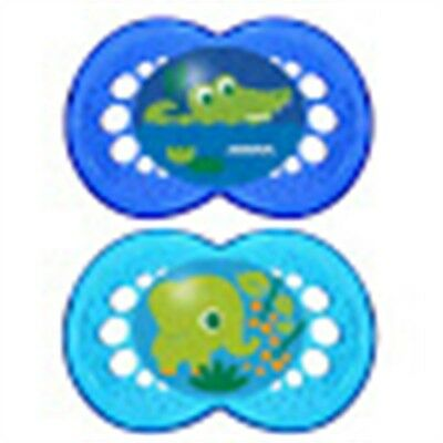 Mam Crystal Soother 2 Pack 6 Months + Girls Colours - 2pk 6mths+ Boys Baby