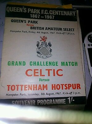 05/08/1967 At Hampden Park: Celtic v Tottenham Hotspur & 04/08/1967 Queens Park