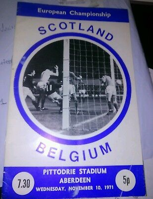 SCOTLAND v BELGIUM EUROPEAN CHAMPIONSHIP ABERDEEN 1971 NOVEMBER 10TH
