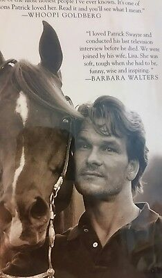 Patrick Swayze Worth Fighting For Love Loss Lisa Niemi HC DJ Photos Horse 1ST ED