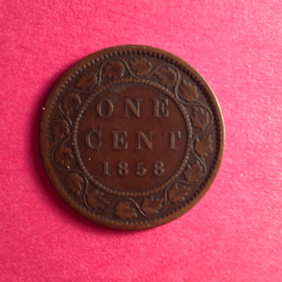 1858 Canadian Large Cent Penny Nice (Rare)