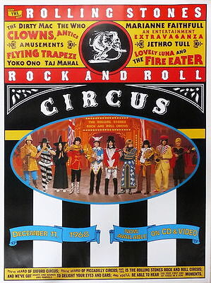 Rolling Stones - Rock & Roll Circus (50 X 70) - Original Promoposter 1996 - Mint