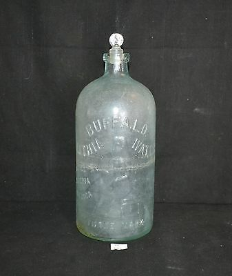 ThriftCHI ~ Antique Glass Lithia Water Medicine Bottle Buffalo