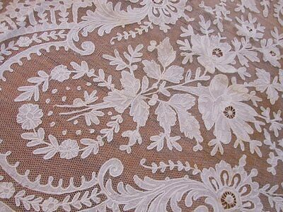 Antique Vintage Lace LOT Runners Flounce Veil BRUSSELS Tambour Net French