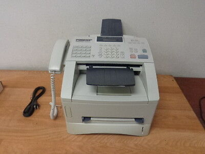 BROTHER INTELLIFAX 4100E High Speed Fax Machine w/output trays & Toner WORKING