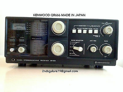 KENWOOD TRIO QR666 Communications Receiver MADE IN JAPAN