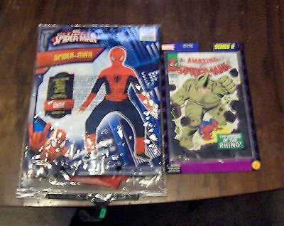 Ultimate  Spiderman  Child Costume Marvel Size MED 8 - 10 halloween + COMIC BOOK