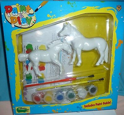 Safari Paint & Play Set, 2 Model Horses, Paints & Brushes