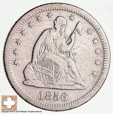 1856-S Seated Liberty Silver Quarter *2582