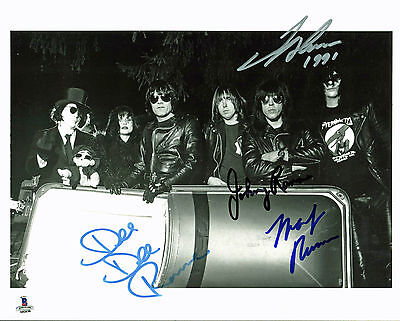 Ramones (4) Dee Dee, Johnny, Marky, Joey Signed 8X10 Publicity Photo BAS #A02030