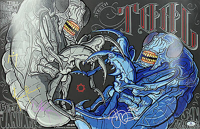 Tool (4) Carey, Keenan, Jones & Chancellor Signed 16x24 2016 Poster BAS #A02027