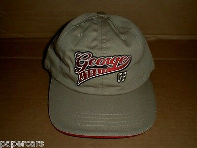 George Strait Made USA Tour Hat Khaki NEW country western music low-rise adult