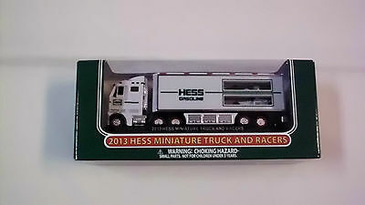 NEW 2013  HESS Mini,Miniature Truck and Racers MIB FREE SHIPPING