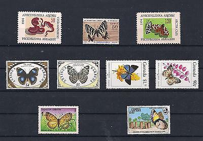Range of Butterfly Stamps V/Fine MNH & Used Butterflies