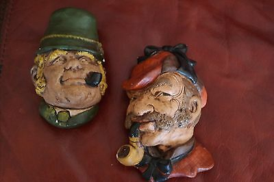 Two vintage rare Bosson Heads