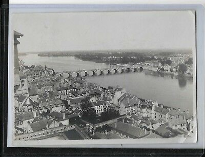 ww1 photo from collection of a.e.f soldier  french town,river and bridge 5x7