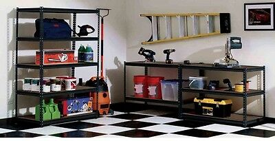Steel Commercial Shelving Unit Black 72 in x 48 in Shelf Durable Construction