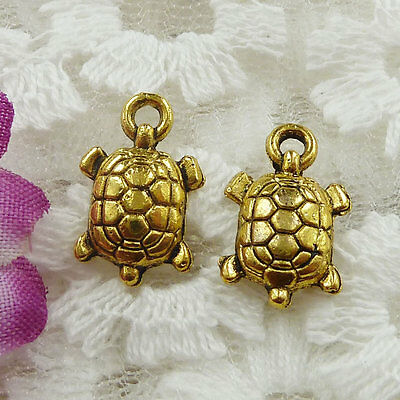 Free Ship 540 pieces gold plated tortoise charms 15x9mm #169