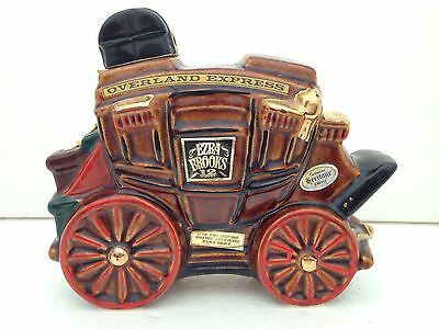 Vtg 1969 Ezra Brooks Overland Express Stage Coach Whiskey Decanter