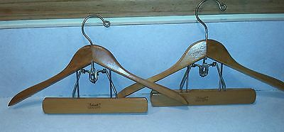 Setwell Heavy Vintage Wooden Suit Hanger for Jacket and Pants