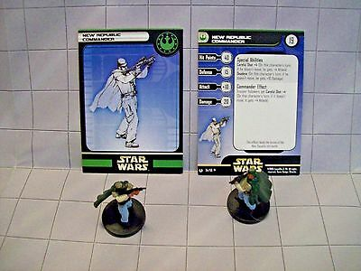 WotC Star Wars Miniatures New Republic Commander, Universe 54/60,NR,Unc,Lot of 2