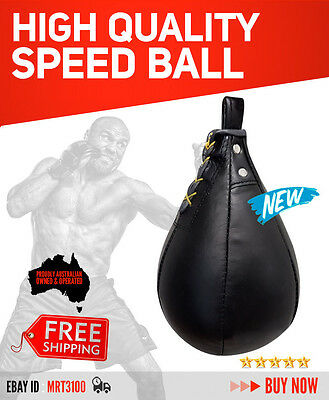 Leather Speed Ball  Punch Bag Speedball Mma Ufc Fitness Boxing