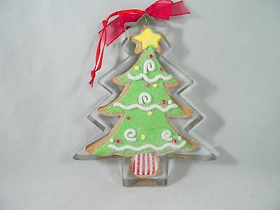 Gingerbread Cookie Tree in Cookie Cutter Christmas Tree Ornament new holiday