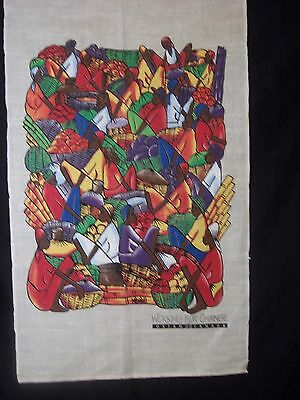 Tea Towel Oxfam Canada Working for Change Bright Colorful Fruits Vegetables