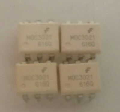 4pcs Fairchild MOC3021 OptoCoupler Triac Driver DIP-6  USA Seller