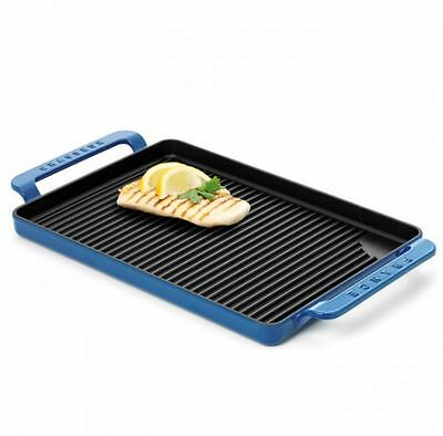 New Chasseur Grill - Rectangular - Large Sky Blue Cookware Kitchen Cooking Chef