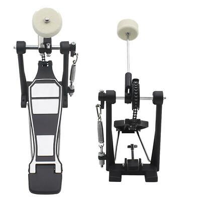 Drum Pedal Single Bass Drum Foot Kick Pedal Percussion Single Chain Drive Black
